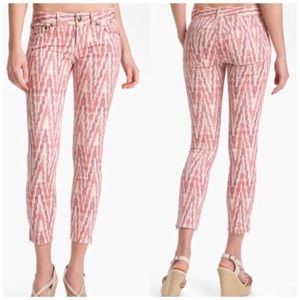 Free People ikat jeans with ankle zippers